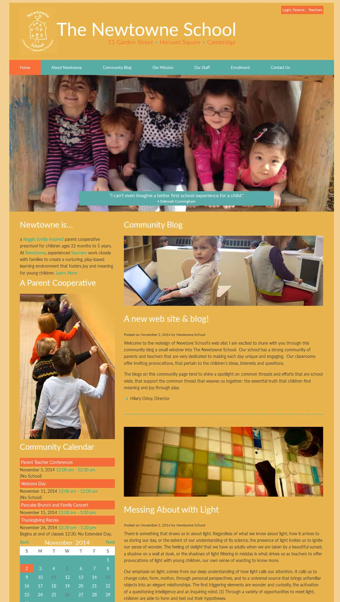 Newtowne School WordPress Web Design
